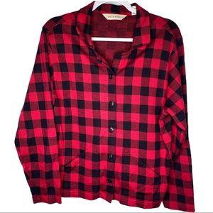 Bechamel Buffalo Check Long Sleeve Shirt Large